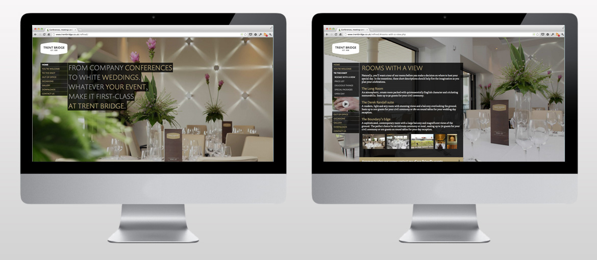 Trent Bridge - Web design and development by 3bit Studio Ltd